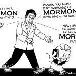 Mitt Romney as Mormon trying to convince Voters